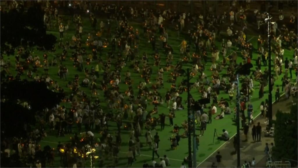 不受防疫禁令影響 香港六四紀念照常登場