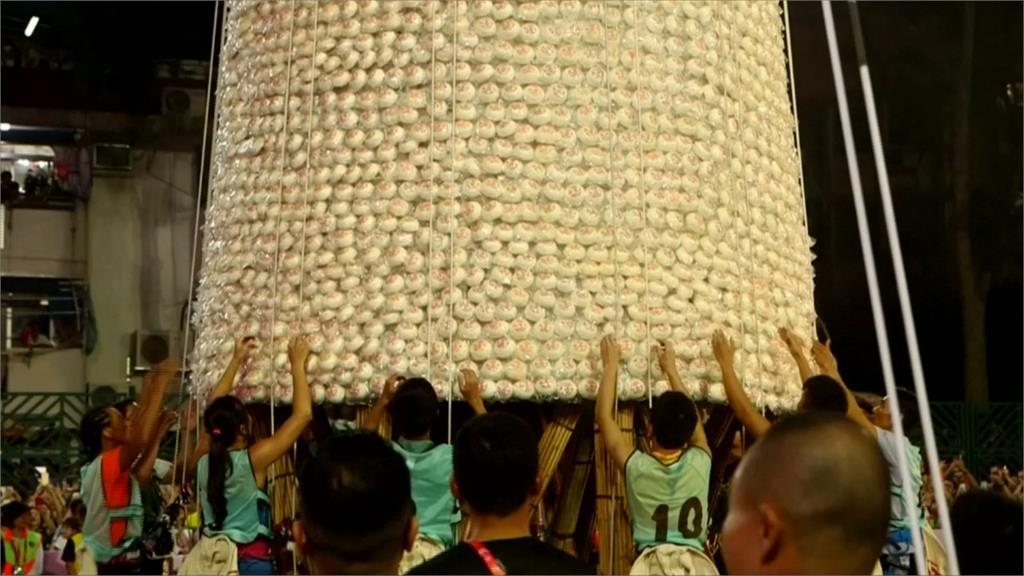 香港傳統慶典「包子節」 搶包山比賽有看頭