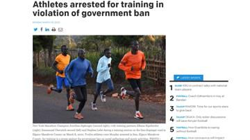 馬拉松女子冠軍遭捕 原因竟是「集體練跑」
