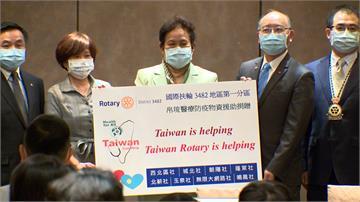Taiwan is helping!台灣捐醫療器材 帛琉大使致贈感謝狀