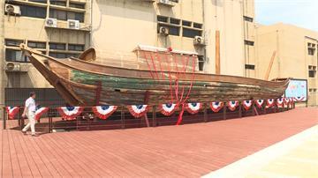 台灣首艘橫渡太平洋帆船 百年「自由中國號」亮相