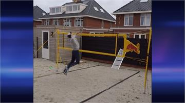 沙灘排球高手居家訓練妙招!獨自在家練殺球還不用撿球