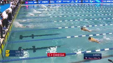 美國游泳公開賽成績揭曉 王冠閎200公尺蝶式摘銀
