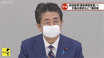 安倍晉三宣布緊急事態宣言 明零時起正式上路