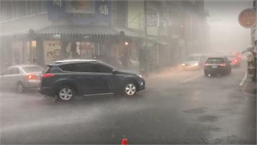快新聞/「黃蜂」外圍環流對流雲系影響 台南玉井等5區風雨交加