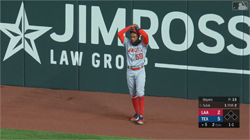 MLB/天使超級新秀守備大烏龍 球彈出手套越全壘打牆