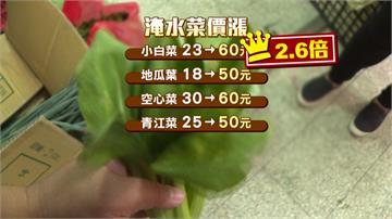 農產災損6.3億元!小白菜翻2.6倍漲最兇