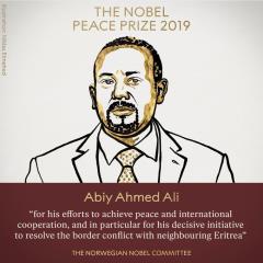 諾貝爾和平獎獎落誰家?衣索比亞總理阿比艾哈邁德阿里得獎