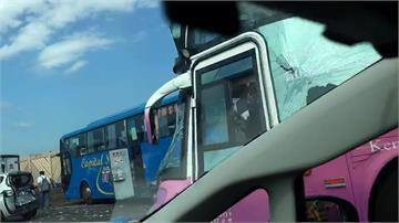 國3重大車禍 兩台大客車追撞  1人OHCA 18傷