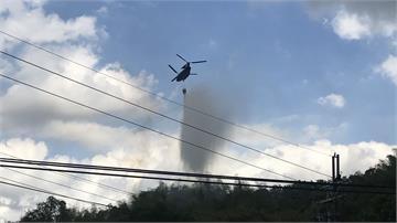 快新聞/高雄美濃森林火災 陸航出動Ch47直升機順利撲滅火勢
