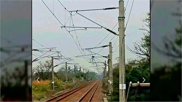 台鐵電車線掉落 影響47列車、萬人被耽誤