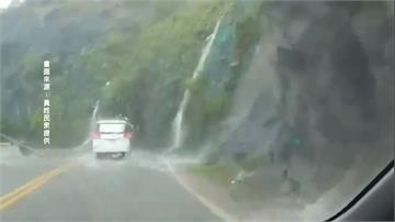 蘇花公路165km落石坍方 一度暫停通行