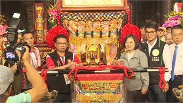 福興宮媽祖遶境 總統蔡英文虔誠參拜