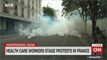 法醫護遊行籲改善薪資 激進人士與警爆衝突