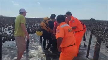 悲!8旬翁採蚵墜海 海巡「協調蚵車救援」 緊急搶救仍不治