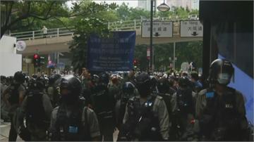 快新聞/「反惡歌法遊行」登場 警施放多枚「催淚彈」揚言違法必拘捕