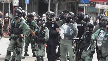 快新聞/香港民眾遊行反惡法百餘人被逮 國民黨:支持香港保持民主自由