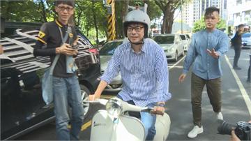 快新聞/陳其邁戴「瓦斯桶」安全帽騎復古機車 大談青年創業願景
