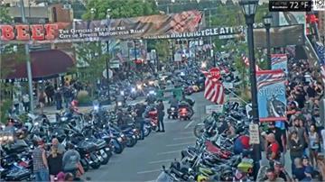 驚!美小鎮摩托車集會 10萬人都沒戴口罩