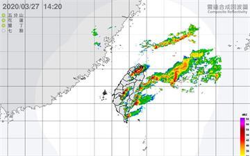 快訊/鋒面、對流雲系旺盛 10縣市注意大雨特報