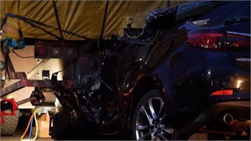 國一北上小客車追撞大貨車 駕駛當場身亡