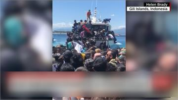 印尼龍目島餘震不斷 觀光客湧逃難潮