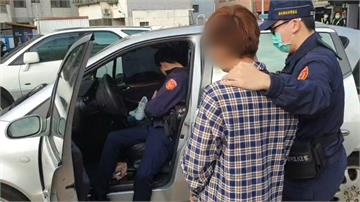 毒蟲自撞棄車逃逸 遭警逮到竟酣睡贓車內