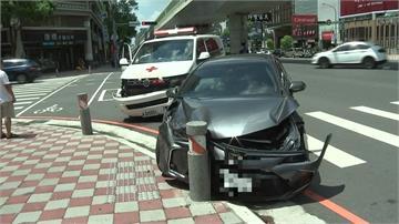 救護車路口與迴轉轎車擦撞 9旬急救老翁送醫不治