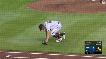 MLB/下丘補位撕裂阿基里斯腱 勇士王牌投手索羅卡本季報銷