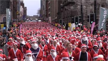 耶誕老人「大量出沒」!路跑、滑雪提前慶佳節