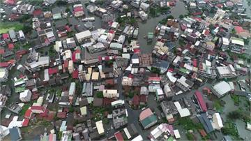 東石鄉重災區  遇上滿潮淹水第4天還沒退
