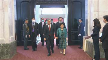 快新聞/520總統就職典禮 前副總統陳建仁伉儷微笑入場