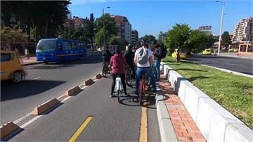 街上只見自行車...波哥大「無車日」禁私家車上路