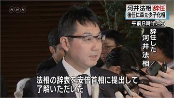 安倍內閣一週內走2人!日本法務大臣宣布辭職