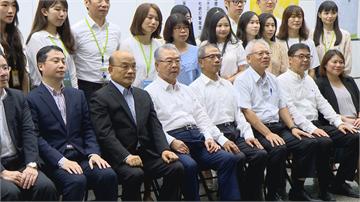 蘇貞昌率團參訪仁寶平鎮廠 肯定科技廠對台經濟貢獻