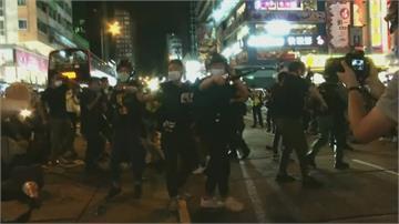 香港悼六四遍地燭光 旺角零星衝突4人遭逮