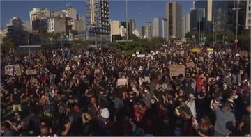 疫情肆虐加上種族問題 巴西民眾上街抗議總統