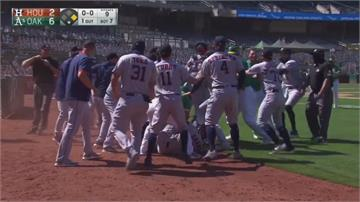 MLB/挨砸又被嗆!運動家與太空人爆大衝突