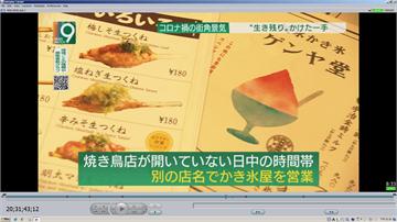 日本武肺疫情衝擊 串燒店賣剉冰求生