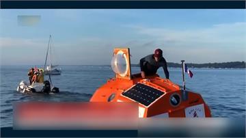 坐木桶漂流122天!法國72歲老翁橫越大西洋