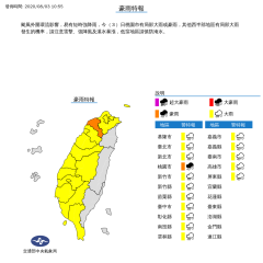 快新聞/16縣市發布大雨、豪雨特報 現在起風雨最大