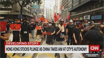 北京祭港版國安法 國際掀反彈聲浪