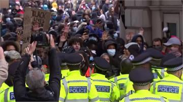 英國「反種族歧視」示威爆警民衝突!天后瑪丹娜也現身
