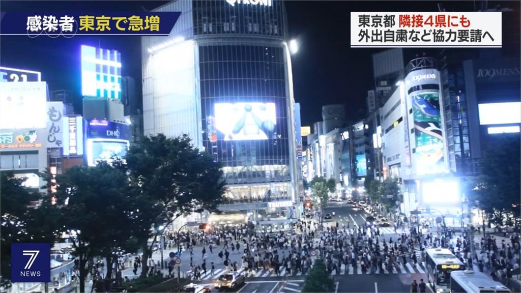 武漢肺炎/日本關東疫情升溫!東京都生活圈籲民眾周末避免外出