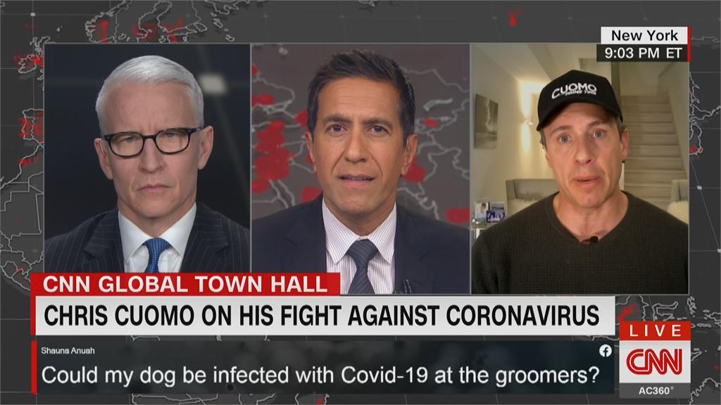 CNN主播現身說法 直播抗疫過程