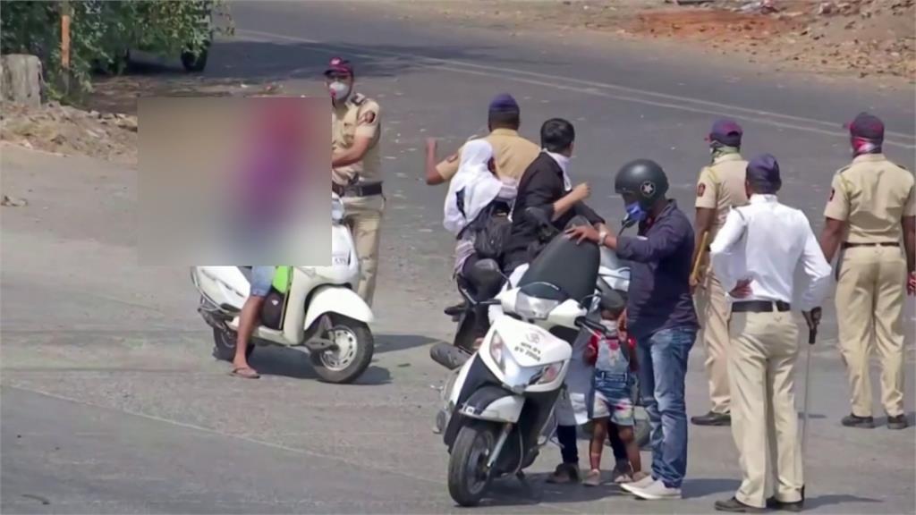 武漢肺炎/印度宣布全國封城3週 民眾違規出門遭鞭打、罰蘿蔔蹲