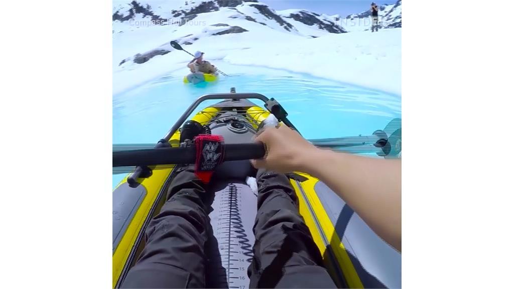 五公尺冰山眼前崩落 獨木舟遊客大浪中倖存