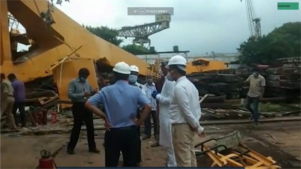 印度造船廠吊車測試出包 倒塌釀11死