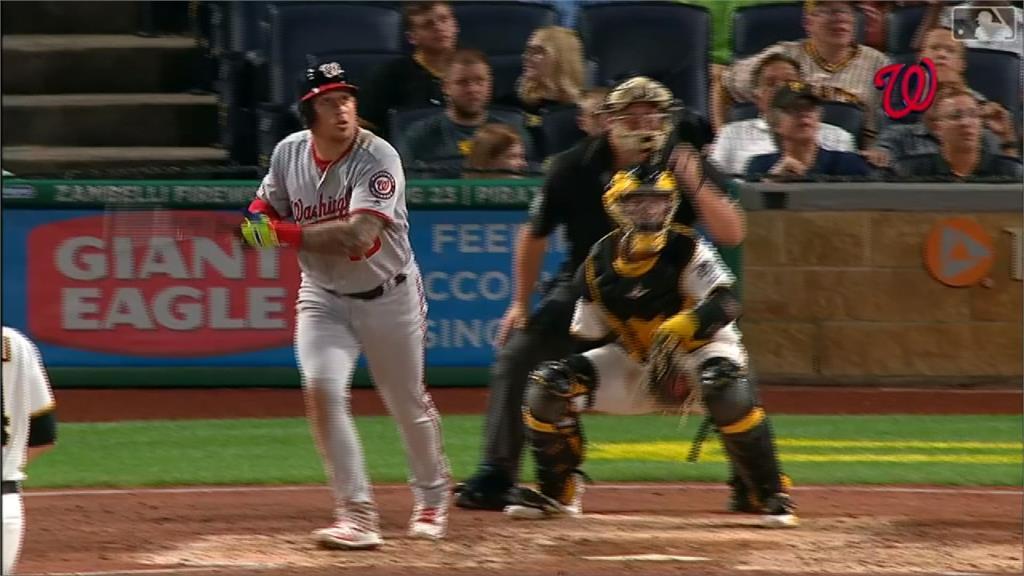 MLB/國民全隊打瘋了!5戰攻62分創隊史紀錄