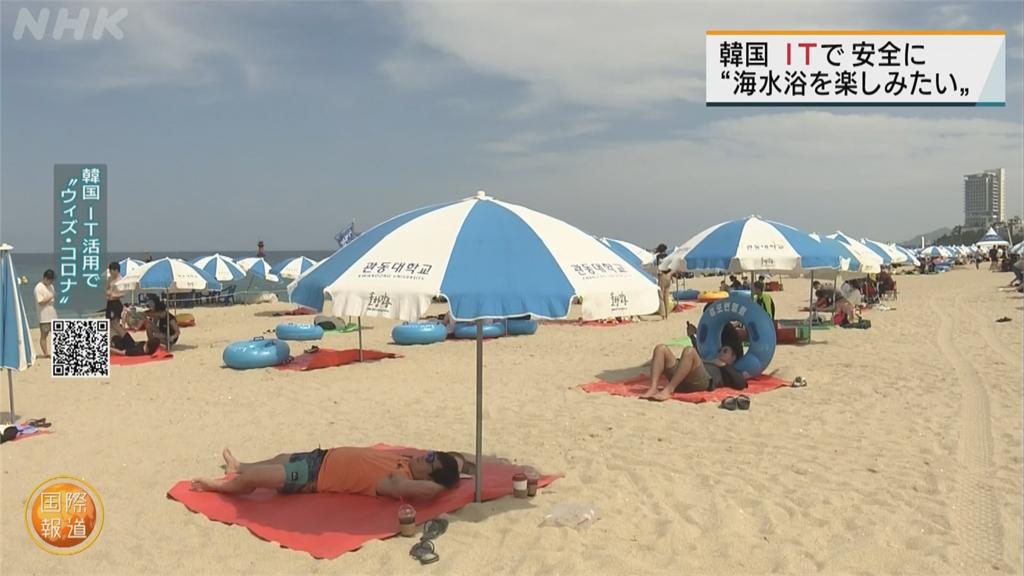 南韓夏季照常開放海灘 運用科技管理降低病毒傳播風險